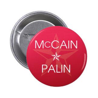 John McCain * Sarah Palin 2008 Button
