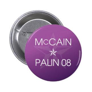 John McCain * Sarah Palin 2008 Pin