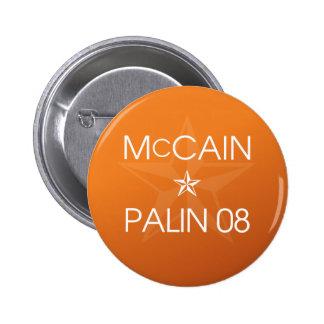 John McCain * Sarah Palin 2008 Buttons