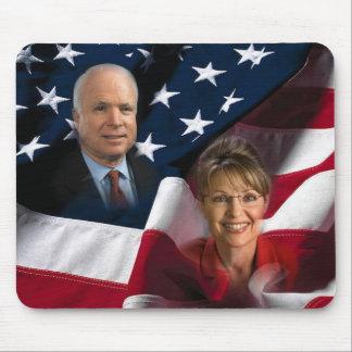 John McCain & Sarah Palin, 2008 Elections Mousemat