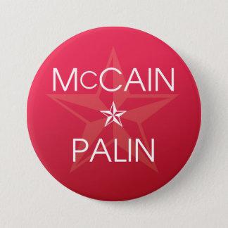 John McCain * Sarah Palin 7.5 Cm Round Badge