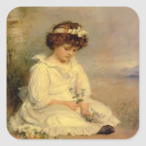 John Millais- Little Speedwell's Darling Blue Sticker