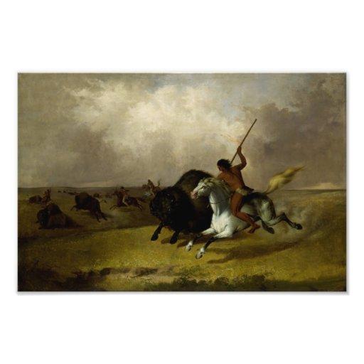 John Mix Stanley - Buffalo Hunt on the Southwester Photo Print