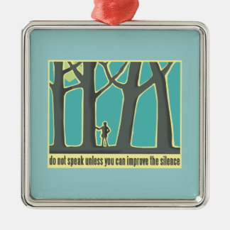 John Muir Quote Silver-Colored Square Decoration