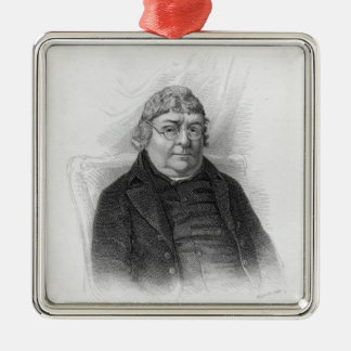 John Nichols, engraved by Woolnoth Silver-Colored Square Decoration