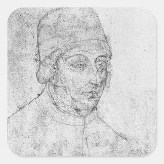 John of Burgundy, bishop of Cambrai Square Sticker
