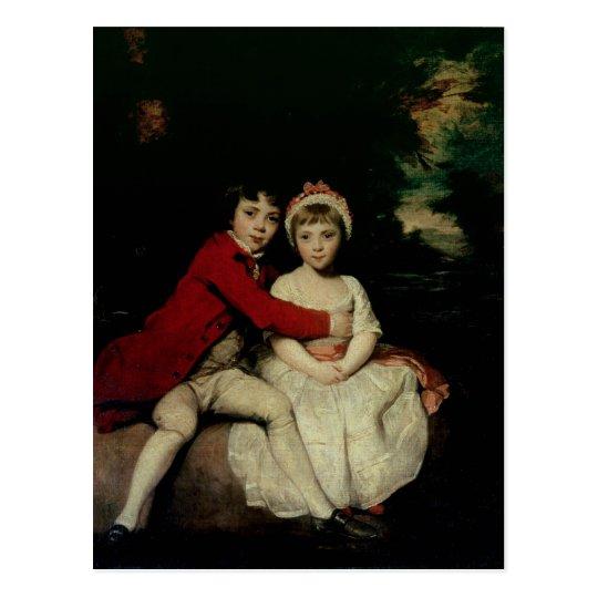 John Parker and his sister Theresa, 1779 Postcard