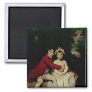 John Parker and his sister Theresa, 1779 Square Magnet
