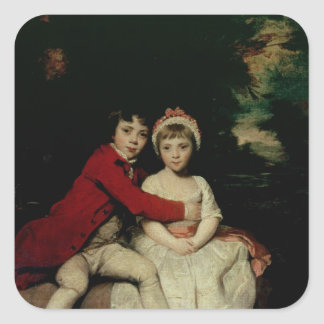 John Parker and his sister Theresa, 1779 Square Sticker