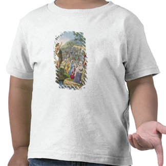 John Preaching in the Wilderness, from a bible pri T-shirts