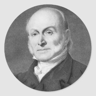 John Quincy Adams Classic Round Sticker