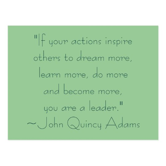 John Quincy Adams Leadership Quote Postcard