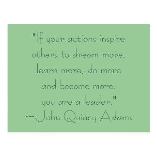 John Quincy Adams Leadership Quote Postcards