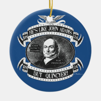 John Quincy Adams Presidential Campaign Christmas Ornament