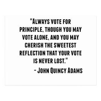 John Quincy Adams Quote Postcard