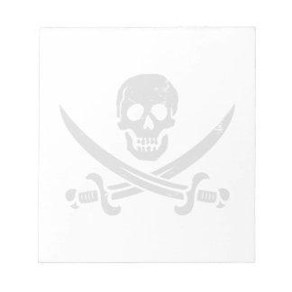 John Rackham (Calico Jack) Pirate Flag Jolly Roger Notepad