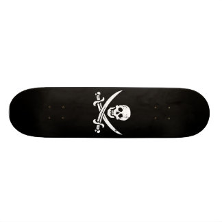 John Rackham (Calico Jack) Pirate Flag Jolly Roger Skate Board Deck