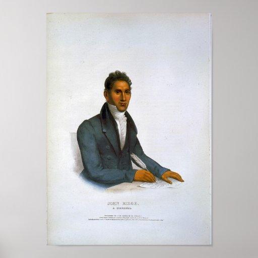 John Ridge, a Cherokee Poster