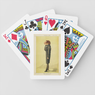 John Ruskin (1819-1900), caricature by Cecioni fro Bicycle Playing Cards