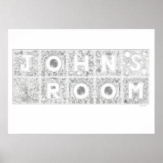 John s Room Color In Magic Poster