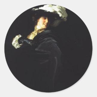 John Sargent- A Vele Gonfie Round Sticker