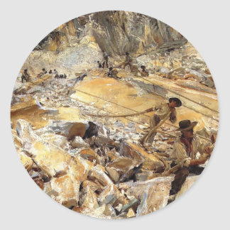 John Sargent- Bringing Down Marble from Quarries Round Sticker