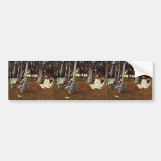 John Sargent- Claude Monet Painting Edge of a Wood Bumper Stickers