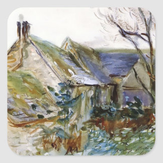 John Sargent- Cottage at Fairford, Gloucestershire Square Stickers