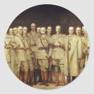 John Sargent- General Officers of World War I Round Sticker