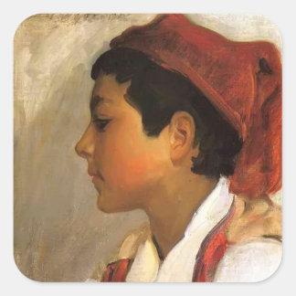 John Sargent- Head of a Neapolitan Boy in Profile Sticker