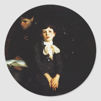 John Sargent- Homer Saint Gaudens and His Mother Round Sticker