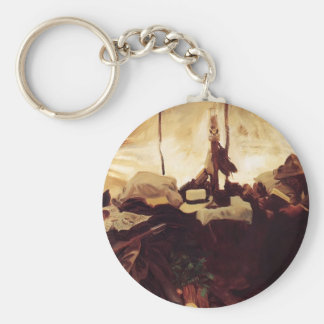 John Sargent- Inside Tent in the Canadian Rockies Keychain