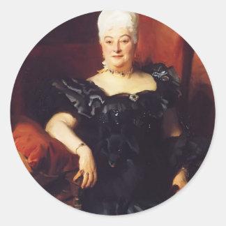 John Sargent- Lady Fauden Phillips (Helen Levy) Classic Round Sticker