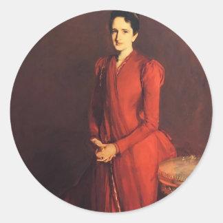 John Sargent- Mrs. Elliott Fitch Shepard Round Sticker