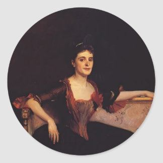 John Sargent- Mrs. Thomas Lincoln Manson Jr Round Stickers