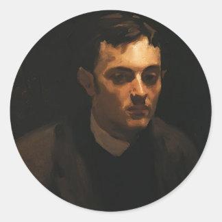 John Sargent- Portrait of Albert de Belleroche Round Stickers