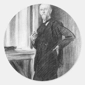John Sargent- Portrait of Charles Martin Loeffler Round Sticker