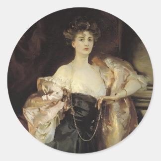 John Sargent- Portrait of Lady Helen Vincent Round Sticker