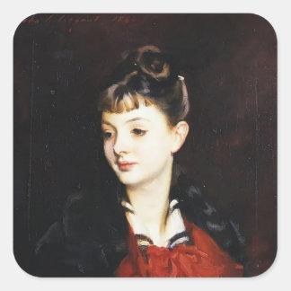 John Sargent-Portrait of Mademoiselle Suzanne Sticker