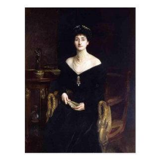 John Sargent- Portrait of Mrs. Ernest G. Raphael Postcard