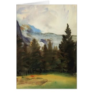 John Sargent: Purtud Fir Trees and Snow Mountains Card