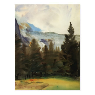 John Sargent: Purtud Fir Trees and Snow Mountains Postcard