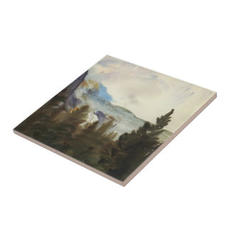 John Sargent: Purtud Fir Trees and Snow Mountains Tile