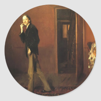 John Sargent- Robert Louis Stevenson and his wife Round Stickers