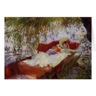 John Sargent- Two Women Asleep in a Punt Greeting Card