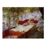 John Sargent- Two Women Asleep in a Punt Postcards