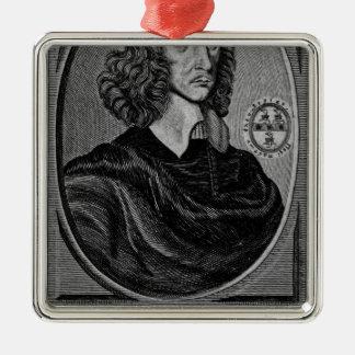 John Selden, 1672 Silver-Colored Square Decoration