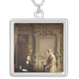 John Sheepshanks and his maid Silver Plated Necklace