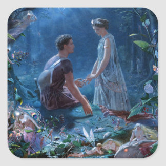 John Simmons: A Midsummer Night's Dream Square Sticker