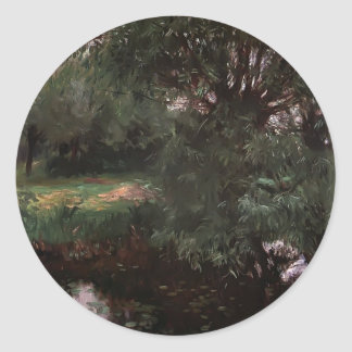 John Singer Sargent- A Backwater at Wargrave Round Sticker